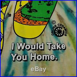 NWT Online Ceramics Tie Dye Ripple Grateful Dead L/S T-Shirt M FW19 DS AUTHENTIC