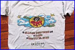 ORIGINAL 1973 SUMMER JAM SHIRT Grateful Dead Allman Brothers Band Watkins Glen