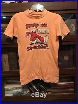 ORIGINAL Rare R Crumb Vintage Grateful Dead Hippy Shirt Keep On Truckin 1972 70s