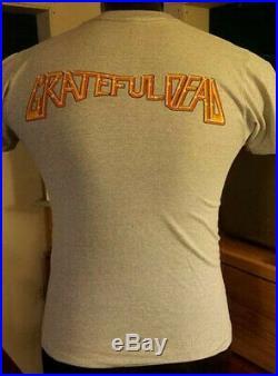 Original 1982 Grateful Dead Rick Griffin Gray Skull Concert T-Shirt Medium vtg