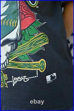 RARE 1994 Oakland A's x Grateful Dead Single Stitch vintage t-shirt
