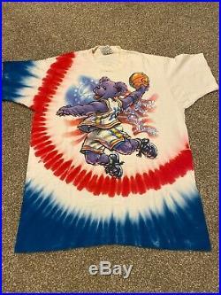 RARE VTG 1996 Grateful Dead Olympics Basketball Bear T Shirt sz XLarge 90s Tee