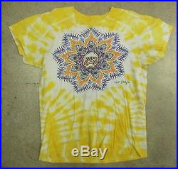 RARE Vintage 1980s Grateful Dead Concert Tour Tie Dye Skull shirt Phil Brown