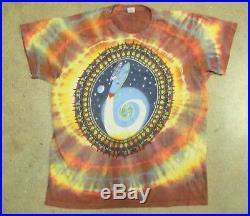 RARE Vintage 1985 Ed Donohue Tie Dye Grateful Dead Surfing Skeleton T Shirt
