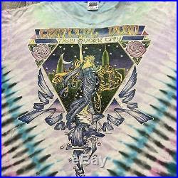 RARE Vintage 1990 Grateful Dead New York City Tie Dye Graphic Shirt Sz Large USA