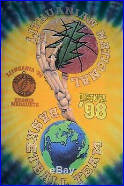 RARE Vintage 1992 Lithuania Grateful Dead Basketball Team