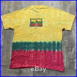 RARE Vintage 1996 Grateful Dead Lithuania Jerry Garcia Tribute Tie Dye Shirt XL