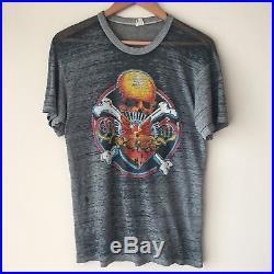 RaRe 1980 Grateful Dead Radio City Music Hall New York Tour Shirt Paper Thin 80s