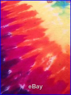 Rare 25 Years Dead GRATEFUL DEAD Space Your Face T-Shirt Tie-Dye 1987 Vtg XL