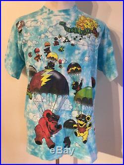 Rare Grateful Dead 1993 Liquid Blue Tie Dye Greg Genrich All Over Print Shirt XL