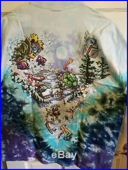 Rare Grateful Dead Ski Bear Shirt XL Liquid Blue 1996 Jerry Garcia Weir