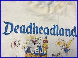 Rare Mens Vintage Grateful Dead T Shirt Size XL Dead Head Land Disneyland