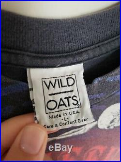 Rare Vintage 90's Grateful Dead All Over Print T-Shirt Size Medium Wild Oats