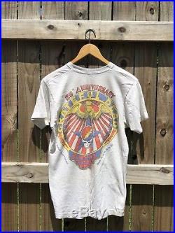 Rare Vintage Bootleg Bart Simpson Grateful Dead Head Garcia 90s Tour Shirt Med