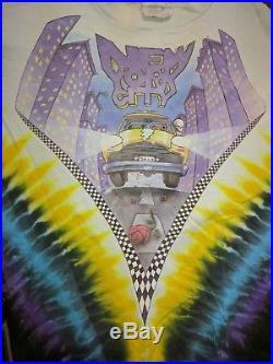 Rare Vintage GRATEFUL DEAD 1990 New York City Taxi MSG Tour Shirt Tie Dye XL