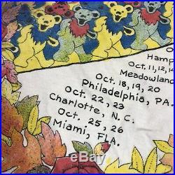 Rare Vintage Grateful Dead Raking In Dead Concert Tour 1989 Fall Shirt Tie Dye