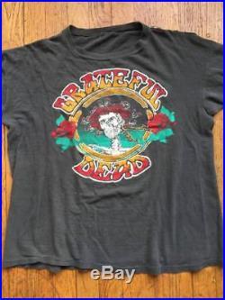 Rare Vintage Original 1970s Grateful Dead Rock Band Concert T-Shirt 70s 80s