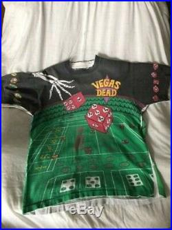 Rare Vtg 1992 Grateful Dead Las Vegas Liquid Blue USA XL T Shirt Deadstock