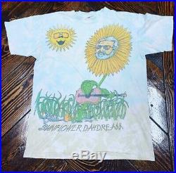 Rare vintage grateful dead T shirt GRAIL Sunflower Daydream Gerry Garcia Large