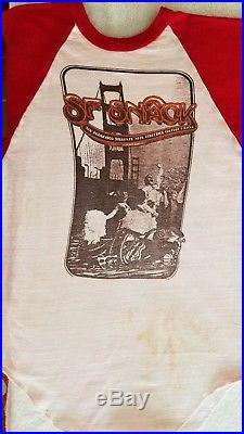 SF S. N. A. C. K. Benefit concert 1975, Grateful dead vintage shirt