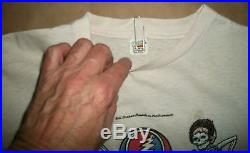 SM vintage 1980 Grateful Dead T Shirt Warfield Theatre SF Bill Graham Presents