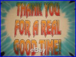 Super Rare Vtg 1995 Grateful Dead Jerry Garcia Tribute Tie-dye T Shirt Good Time