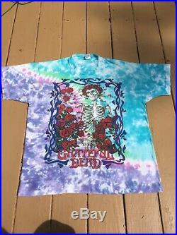 The Grateful Dead Vintage Rare 1990 Tour Shirt Garcia Tie Dye Bertha Official