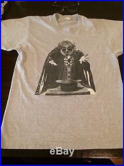 dcd09bc07f66 True 1987 Vintage JERRY GARCIA BAND TOUR SHIRT TEE Concert T-Shirt Grateful  Dead