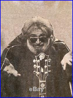 True 1987 Vintage JERRY GARCIA BAND TOUR SHIRT TEE Concert T-Shirt Grateful Dead