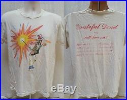 True Vintage 1987 GRATETFUL DEAD Fall Tour T Shirt USA Uncle Sam Size M