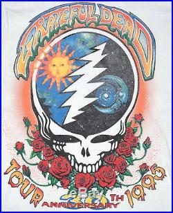 True Vintage Grateful Dead 30th Anniversary 1995 Summer Tour T-Shirt / Shirt