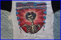 VINTAGE 1980s Grateful Dead T-Shirt 2 tone Shirt NOS