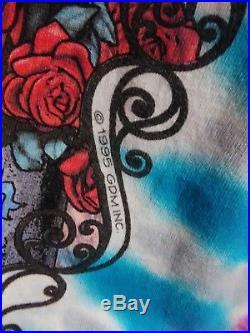 VINTAGE 1995 GRATEFUL DEAD TYE DYE 30th Anniversary Summer Tour Band Shirt XXL