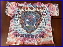 VINTAGE 1995 GRATEFUL DEAD TYE DYE 30th anniversary summer tour Band shirt no sz