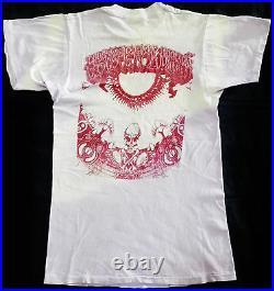 VINTAGE 80's 1984 GRATEFUL DEAD ROCK TOUR CONCERT T-SHIRT HIPPIE PSYCHEDELIC
