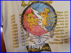 VINTAGE GRATEFUL DEAD T-SHIRT'93 Summer Tour NOT a Reprint
