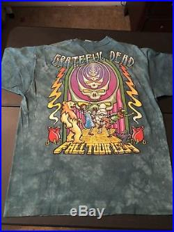 VINTAGE Grateful Dead Follow The Golden Road 1994 Fall Tour OZ T-Shirt XL USA