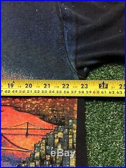 VINTAGE RARE GRATEFUL DEAD 1990 NYC- SF BRIDGE T SHIRT Size L