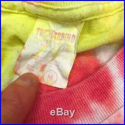 VTG 1986 Grateful Dead Terrapin Concert Travel Parking Lot Mens Tie Dye Shirt M