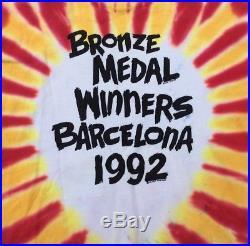VTG 1992 GRATEFUL DEAD Basketball Lithuania Bronze Medal Tie Dye T-Shirt XL