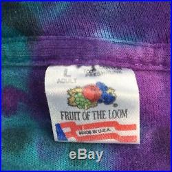 VTG 1994 Grateful Dead Fruit T-shirt Eugene Owl Purple Blue Tie Dye Sz Large B1A