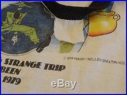 VTG 70s 1979 GRATEFUL DEAD Long Strange Trip Garcia Concert Tour Rock T-Shirt M