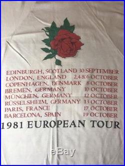 VTG 80's GRATEFUL DEAD Stanley Mouse 1981 EUROPEAN TOUR Shirt M Medium