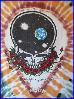 VTG 80sGRATEFUL DEAD 1987 SPACE YOUR FACE IN THE DARK TIE-DYET-SHIRT OFFIC LIC