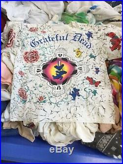 VTG 90s 1995 GRATEFUL DEAD T-Shirt LIQUID BLUE All Over Print DANCING BEARS SM