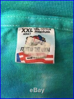 VTG 90s FOTL GRATEFUL DEAD WHALE & DOLPHIN TIE DYE T SHIRT Blue Green USA XXL