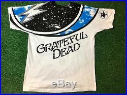 VTG 90s GRATEFUL DEAD ALL OVER PRINT SKULL SHIRT Sky XL Mint Condition