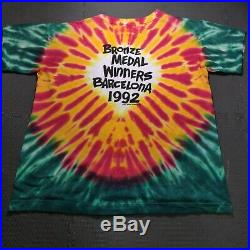 VTG 90s Lithuania Basketball Tie Dye Grateful Dead T Shirt USA 1992 Barcelona