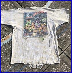 VTG GRATEFUL DEAD LL RAIN SINGLE STITCH TEE SHIRT LIQUID BLUE XL 90s 1995 TOUR