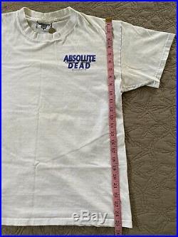 VTG Grateful Dead Bear Absolute Vodka State Of Mind 1993 T-Shirt 90s Underwraps